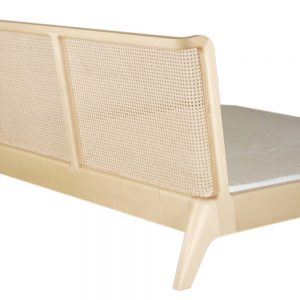 Bett mit Rattankopfteil aus Massiv - Holz Ahorn, Modellauswahl