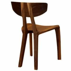 Esszimmerstuhl aus Nussholz, von Hand individuell gefertigt, zur Modellauswahl