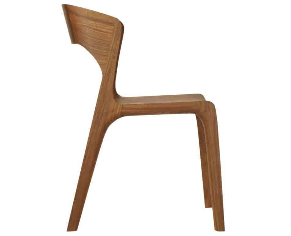 Esszimmerstuhl aus Holz, amerikanischer Nussbaum geölt