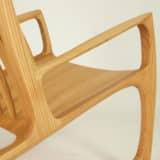 Schaukelstuhl aus Holz, Holzart Roteiche