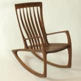 Diesen Schaukelstuhl können Sie auch in einem meiner Stuhlbaukurse fertigen
