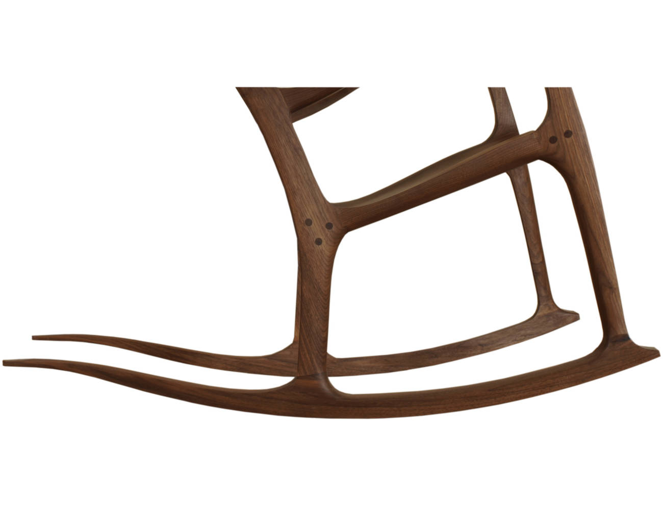 Die Kufe eines Schaukelstuhl entsteht durch Formverleimung,es sind unterschiedliche Kufenradien erhältlich
